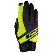 Racing gloves Roeckl LL Lidhult black-yellow