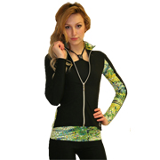 Thuono figure skating jacket model Performance Glitter Green