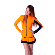Veste de patinage artistique Thuono modèle Performance Orange