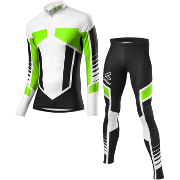 Löffler Cross-country ski suit WorldCup 2016 black-light green