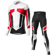 Löffler Cross-country ski suit WorldCup 2017 black-red (kids)