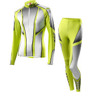 Löffler women's Cross-country skiing suit Teamline 2016 light green