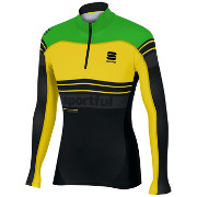 Sportful Squadra Race Top Sort/grønn fluo/gul fluo