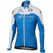 "разминочная куртка Sportful Team Italia Kappa WS Jacket ""Carbonio"" синяя"