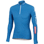 "Sportful Team Italia Kappa Race Top Warm ""Carbonio"" blå"